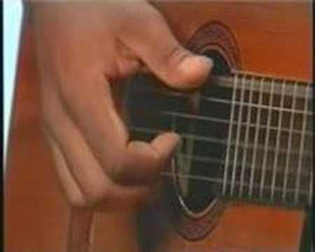 Aula de violão básica sobre dedilhados