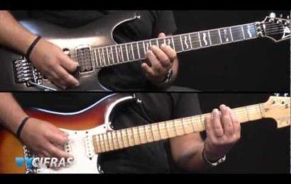 """Video aula de guitarra – Como tocar – """"The Wicker Man"""" – Iron Maiden – Parte 1 e 2"""