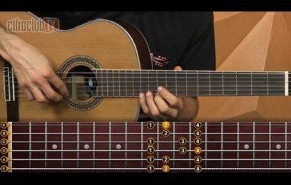 Video aula de violão – Estudos de escalas maior natural