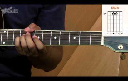 Video aula de violão com a música No Pressure Over Cappucino – Alanis Morissette