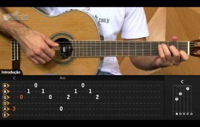 Video aula de violao com a musica Hallelujah