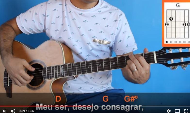 Aprenda a tocar no violão o Hino 58